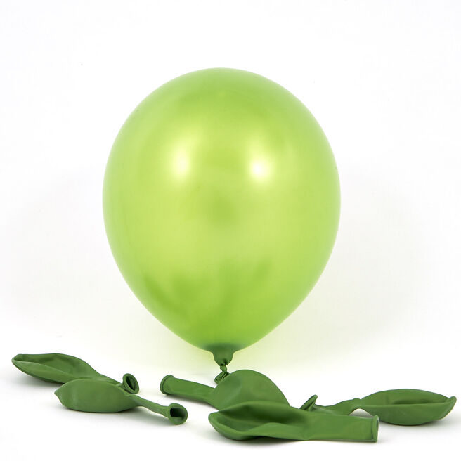 Metallic Green Latex Balloons - Pack Of 6