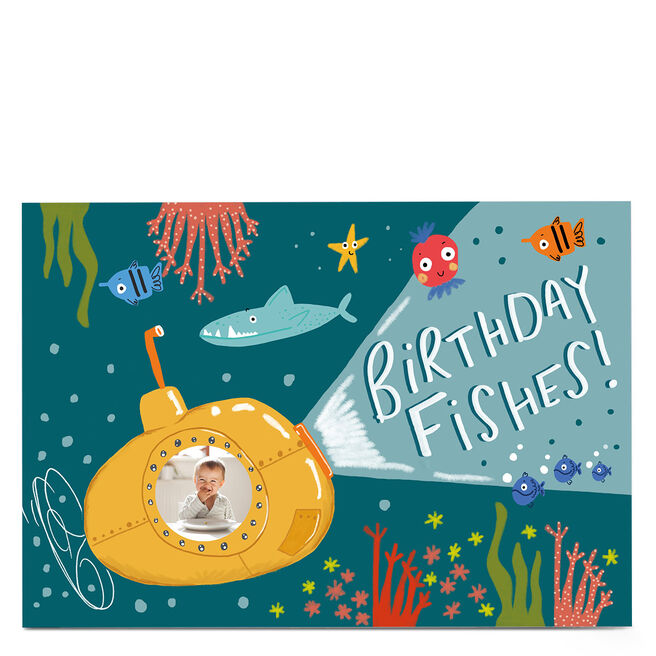 Photo Carol Richardson Birthday Card - Birthday Fishes