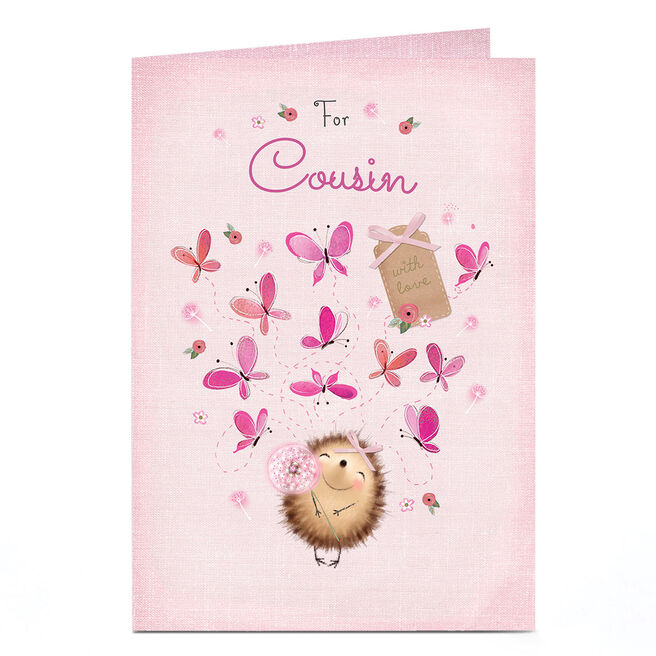 Personalised Card - Happy Hedgehog