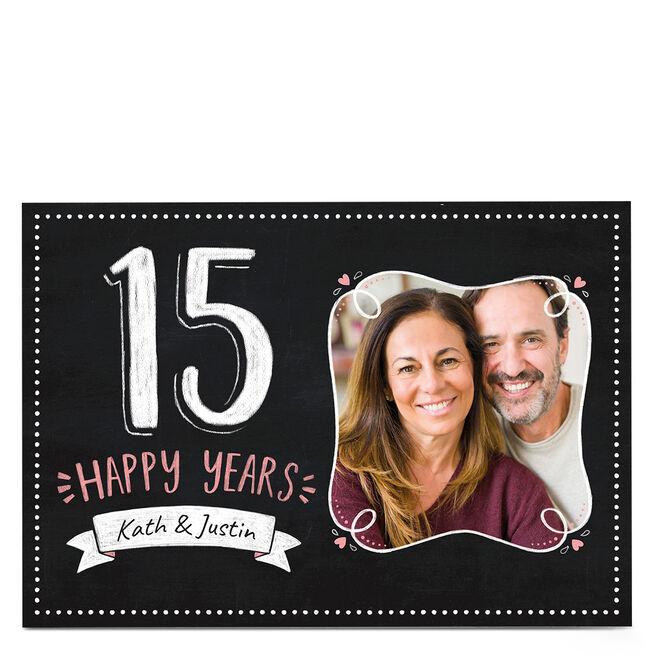Photo Anniversary Card - 15 Happy Years