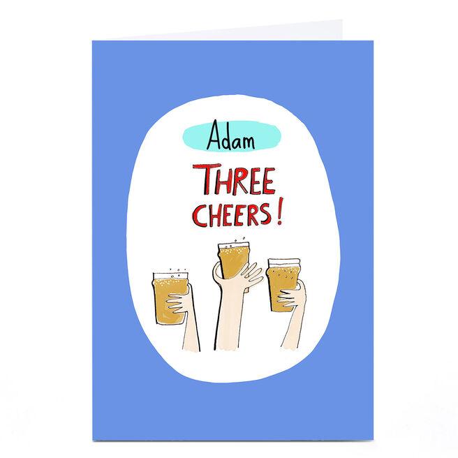 Personalised Card - Eday Three Cheers