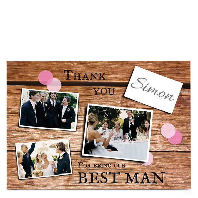 Multi Photo Wedding Card - Thank You For Being Our
