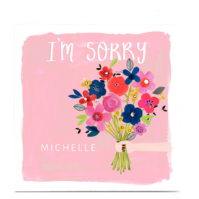 Personalised Kerry Spurling Card - Flowers I'm Sorry