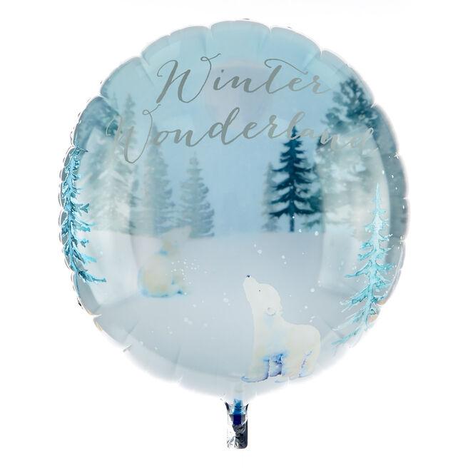 Large 31 Inch Christmas Balloon - Polar Bear (Deflated)