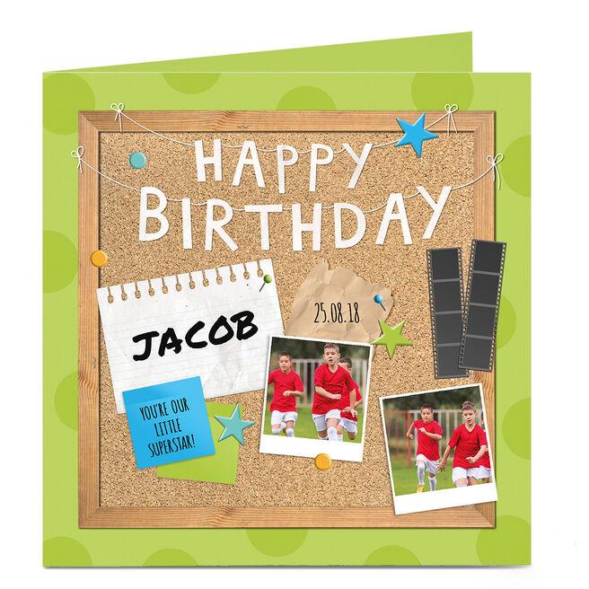 Multi Photo Birthday Card - Pinboard Birthday
