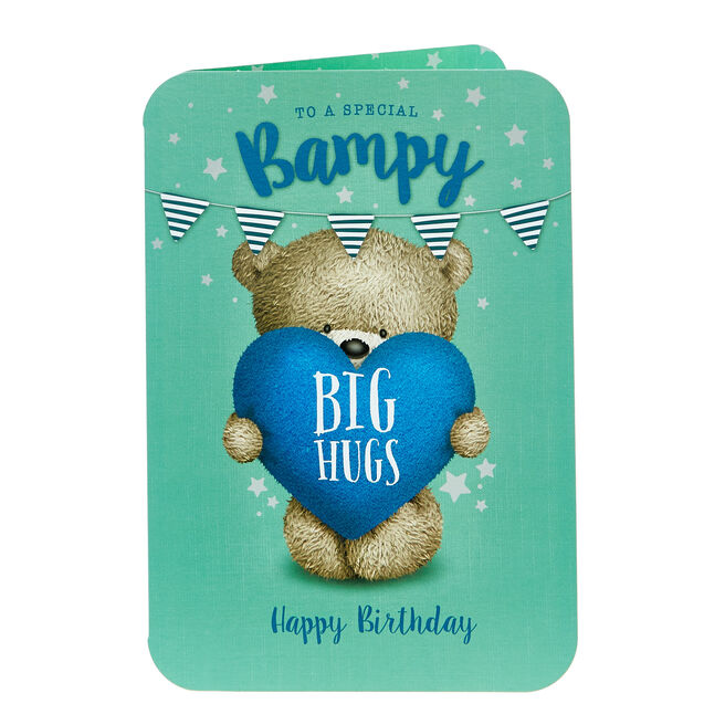 Hugs Bear Birthday Card - Bampy