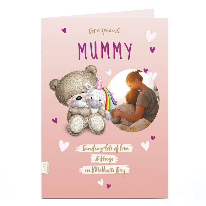 Photo Hugs Bear Mother's Day Card - Sending Lots Of Love