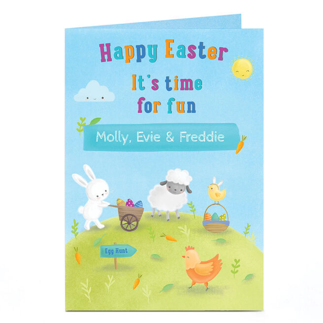 Personalised Easter Card - It's Time For Fun