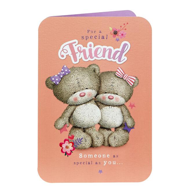 Hugs Bear Birthday Card - Special Friend