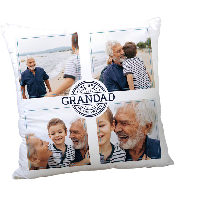 Personalised Father's Day Photo Cushion - The Best In The World