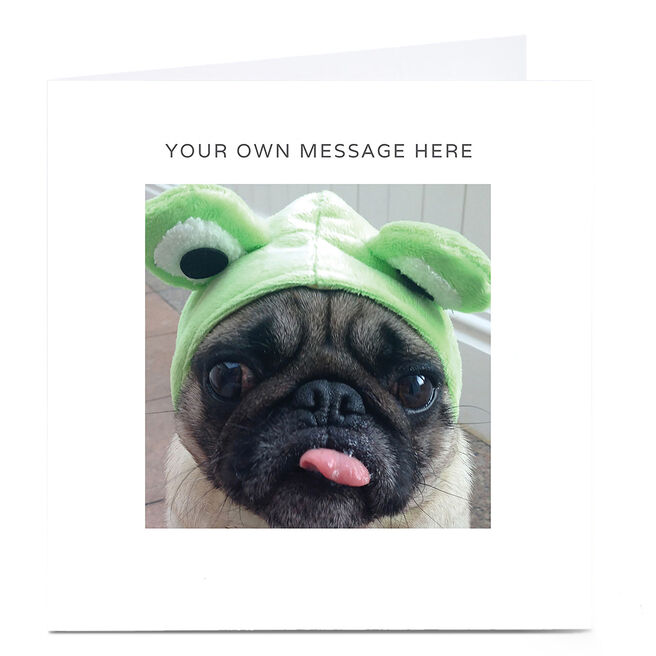 Personalised Card - Frog Pug