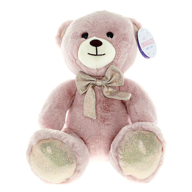 Pink Fluffy Bear Soft Toy