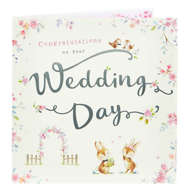 Exquisite Collection Wedding Card - Woodland Scene