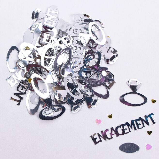 Silver Engagement Foil Table Confetti