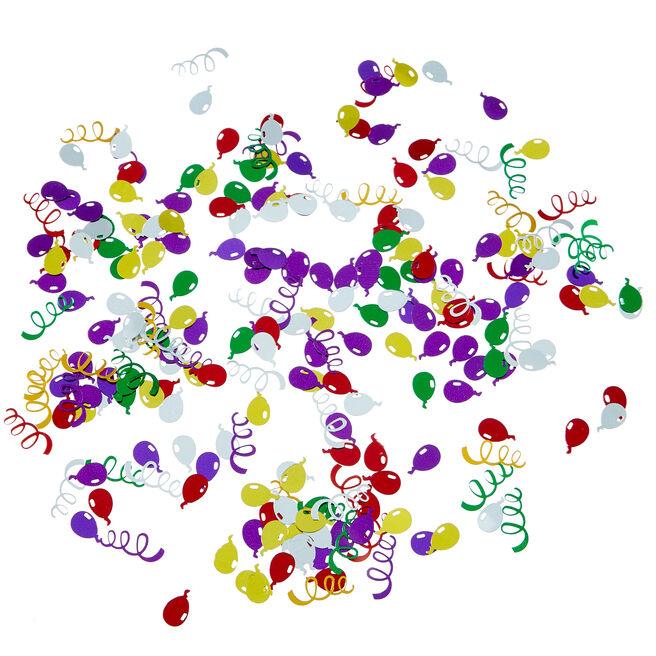 Metallic Multicoloured Balloon Swirl Foiletti - Pack of 3
