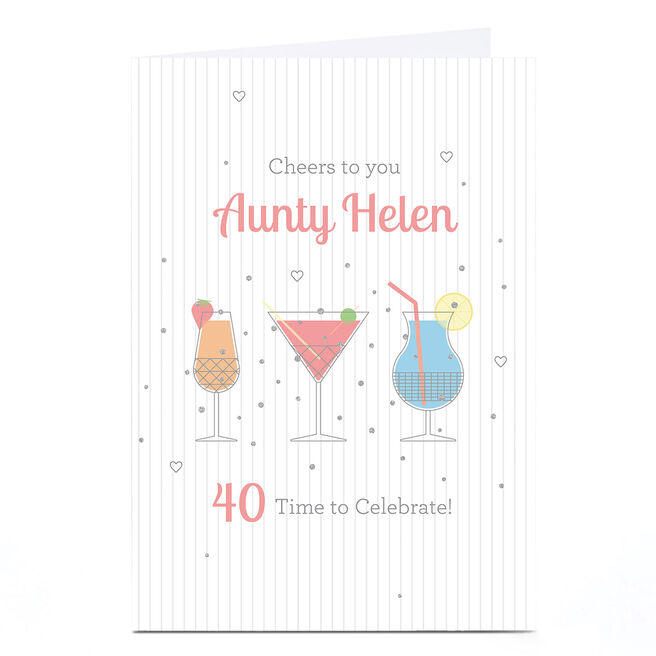 Personalised Birthday Card - Cheers To You, Any Age