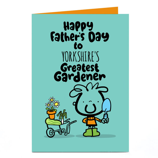 Personalised Fruitloops Father's Day Card - Greatest Gardener