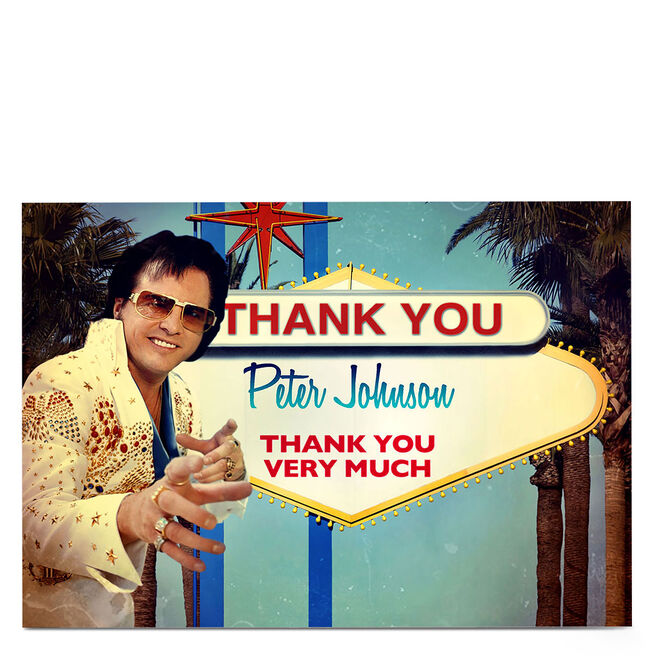 Personalised Thank You Card - Elvis