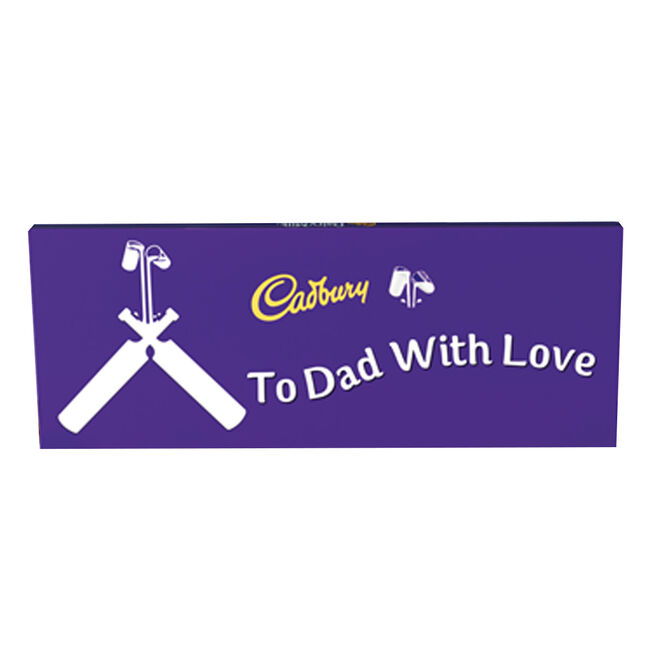 Personalised 850g Cadbury Dairy Milk Bar - Cricket