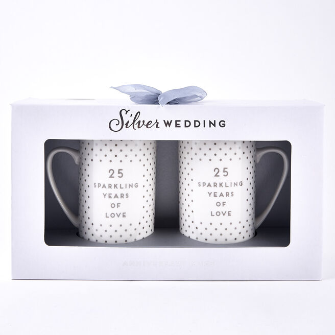 Silver Wedding Anniversary Mugs