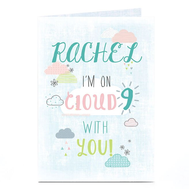 Personalised Card - Cloud Nine With You