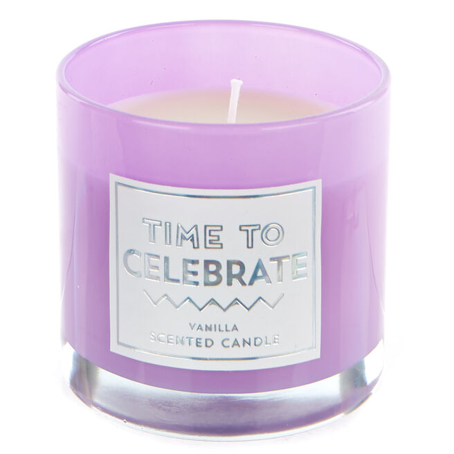 Time To Celebrate Vanilla Scented Celebration Candle