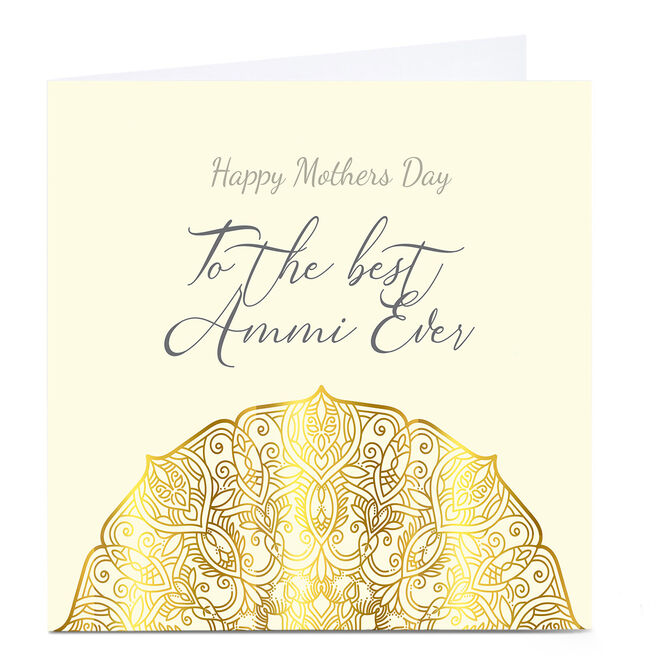 Personalised Roshah Designs Mother's Day Card - Best Ammi Ever