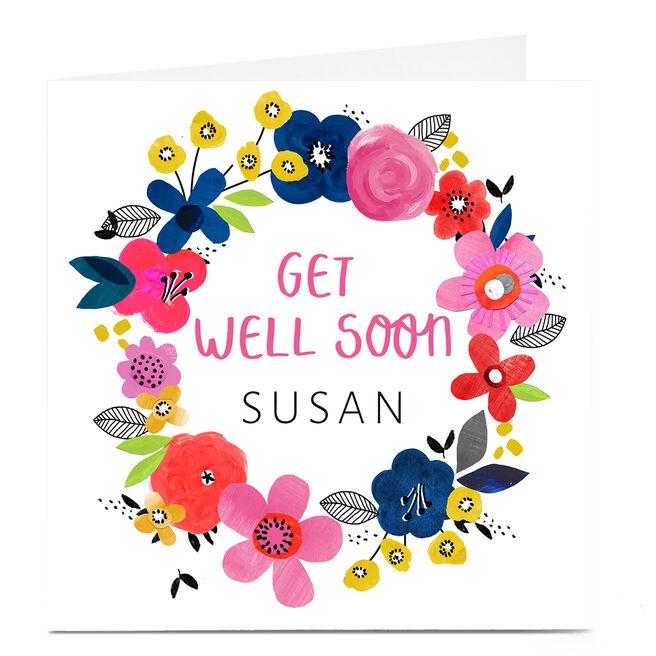 Personalised Kerry Spurling Card - Get Well Soon