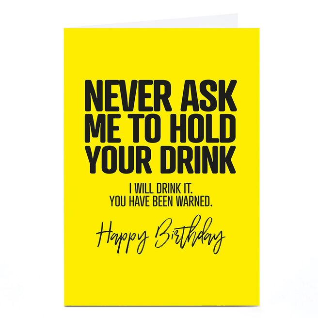 Personalised Punk Birthday Card - Never Ask Me...