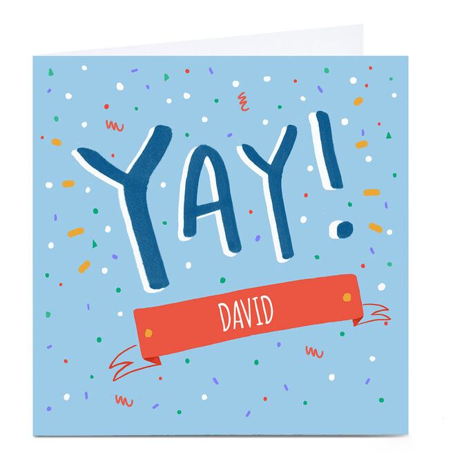 Personalied Carol Richardson Card - YAY Blue