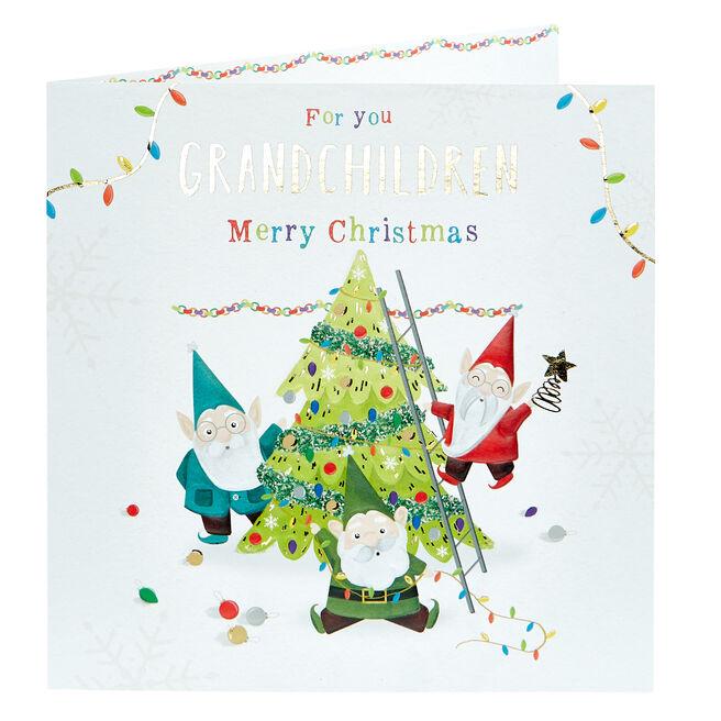 Christmas Card - Grandchildren Gnomes