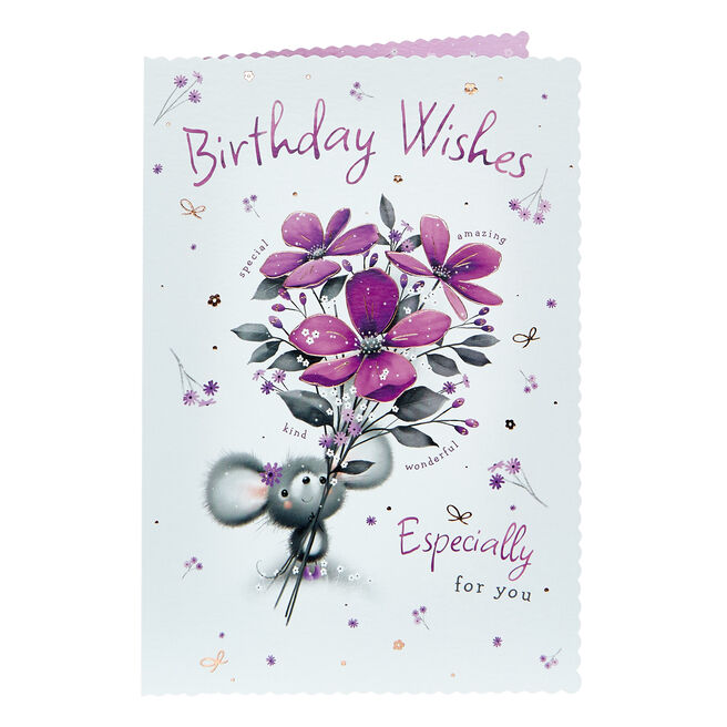 Birthday Card - Wishes Especially For You