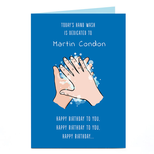 Personalised Birthday Card - Hand Wash