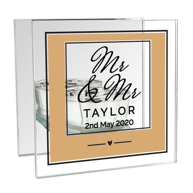 Personalised Wedding Tea Light Holder