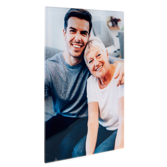 Personalised Acrylic Photo Print - 12 x 8 Inches (Portrait)