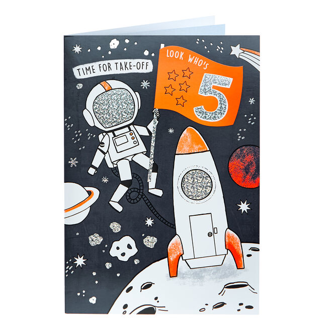 5th Birthday Card - Time For Take-Off