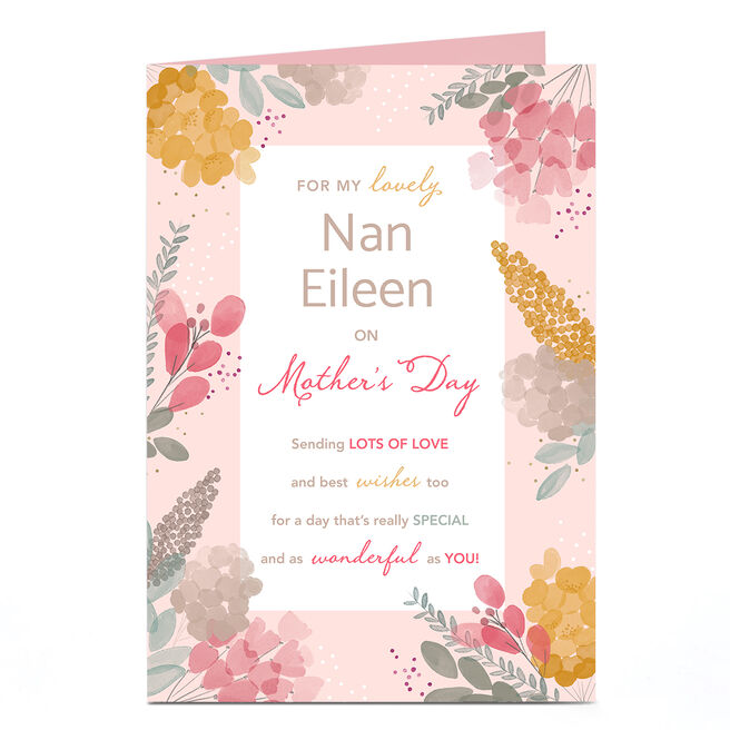 Personalised Mother's Day Card - For my Lovely