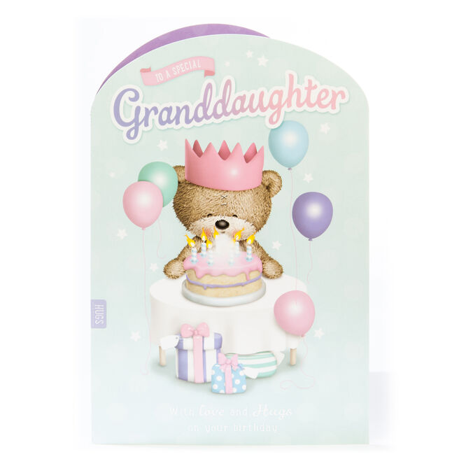 Giant Hugs Bear Birthday Card - Granddaughter