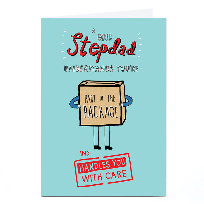Personalised Father's Day Card - Stepdad, Part Of The Package