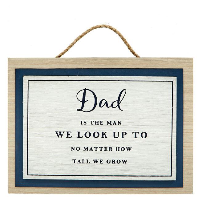 Memory Lane Dad Plaque