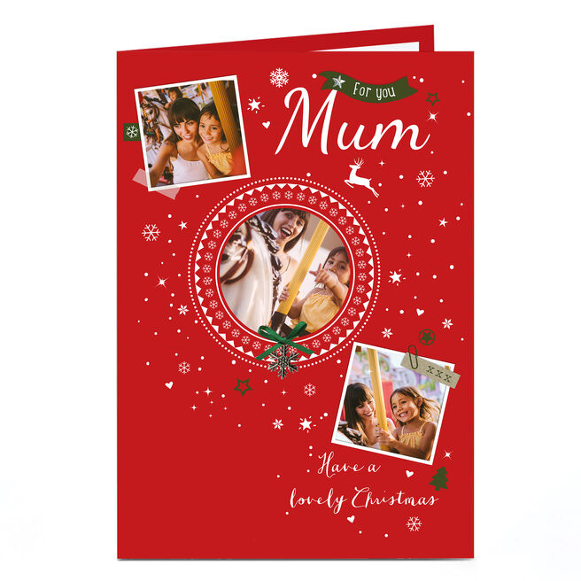 Photo Christmas Card - For You Mum