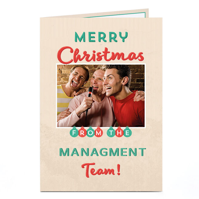 Photo Christmas Card - From The Team