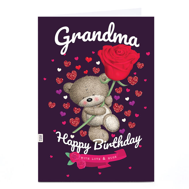 Personalised Birthday Card - Hugs with Rose, Grandma