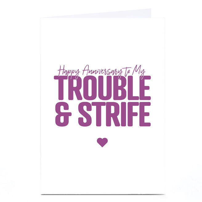Personalised Punk Cards Anniversary Card - Trouble & Strife