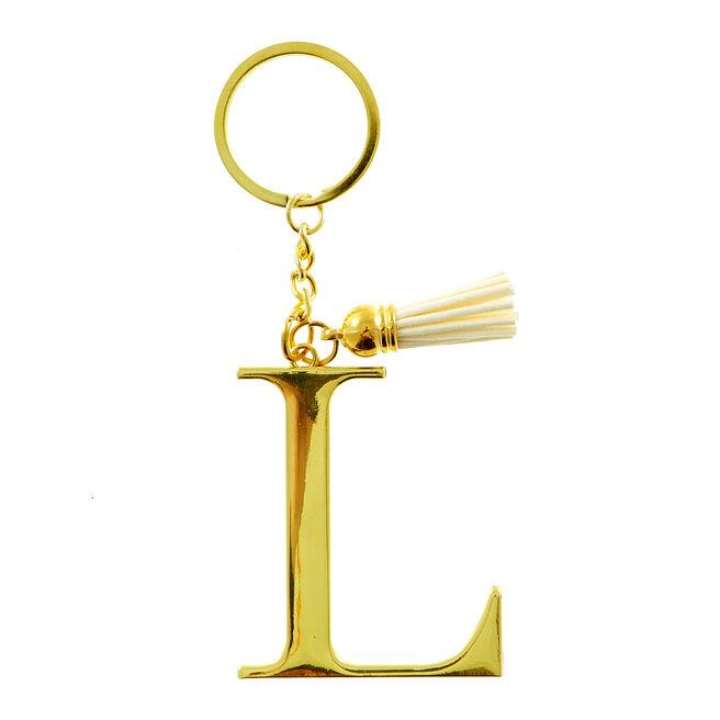Letter L Key Ring