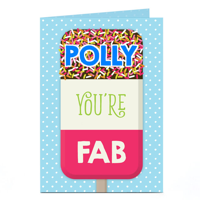 Personalised Card - Fab Lolly