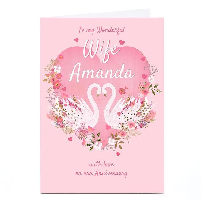 Personalised Kerry Spurling Card - Wonderful Wife