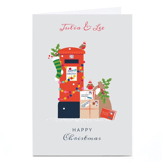 Personalised Klara Hawkins Christmas Card - Postbox