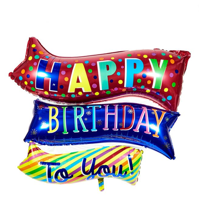 Large Happy Birthday To You 32-Inch Foil Helium Balloon