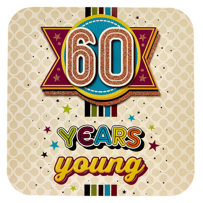 Platinum Collection 60th Birthday Card - 60 Years Young